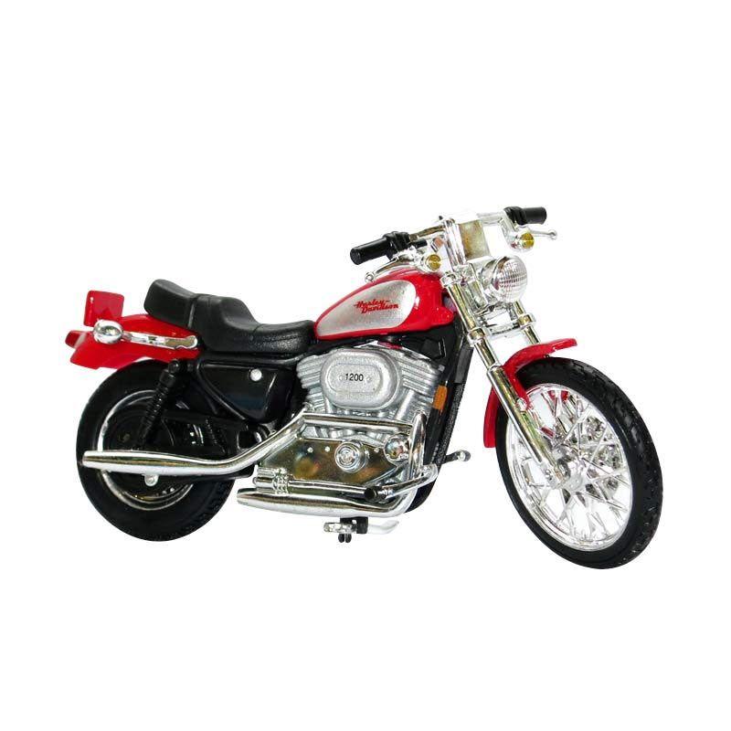 Maisto Harley Davidson XL Sportster 1200C Merah Diecast [2002]