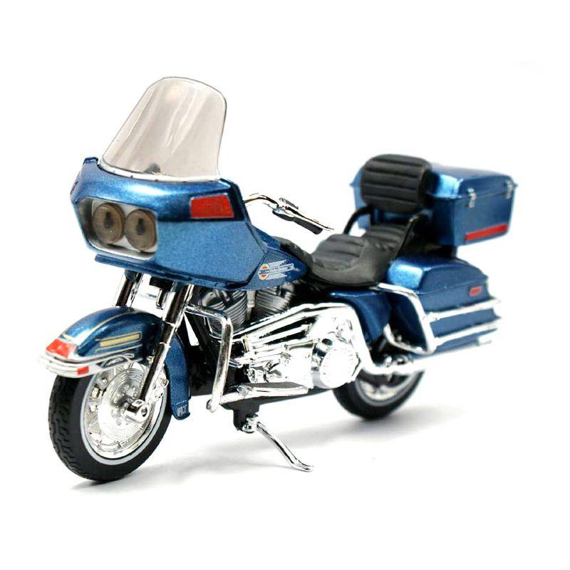 Maisto Harley Davidson Tour Glide FLT 1980 Biru Diecast [1:18]