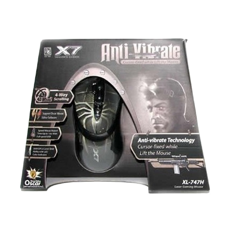 Jual A4TECH X7 XL 747H Anti Vibrate Gaming Mouse Online