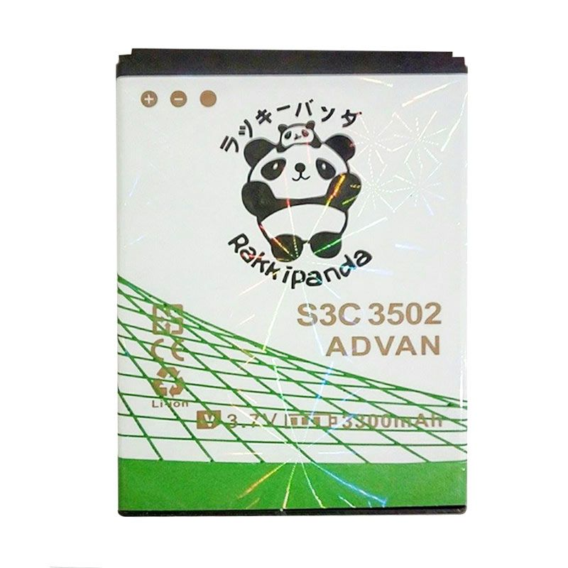 BATTERY BATERAI DOUBLE POWER DOUBLE IC RAKKIPANDA ADVAN S3C (C3502) / S3+ PLUS 3300mAh