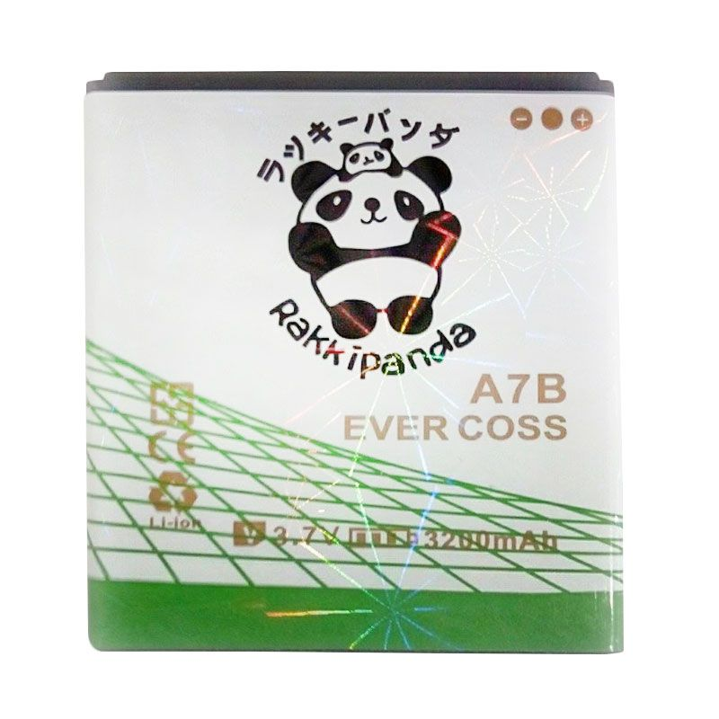 BATTERY BATERAI DOUBLE POWER DOUBLE IC RAKKIPANDA EVERCOSS CROSS A7B 3200mAh