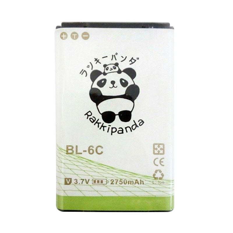 BATTERY BATERAI DOUBLE POWER DOUBLE IC RAKKIPANDA NOKIA BL-6C 2750mAh