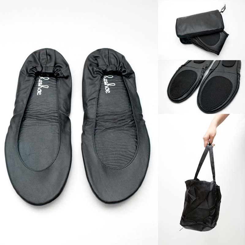 Ableshoe Foldable Flatshoe Black