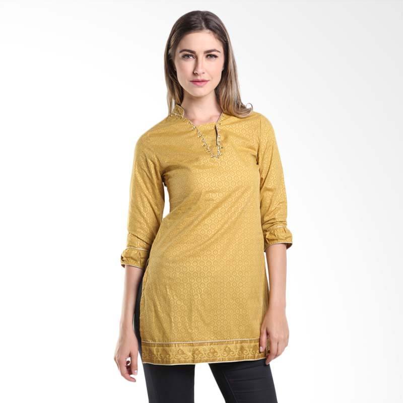 Accent Festive Farheen Printed Tunic AR15079101 Gold Atasan Wanita