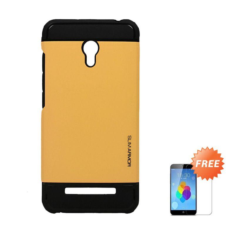 Accessories Hp Spigen Gold Casing for Xiaomi Redmi Note 2 + Tempered Glass