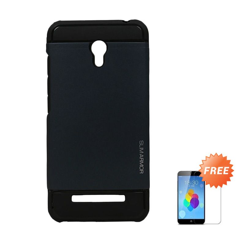 Accessories Hp Spigen Hitam Casing for Xiaomi Redmi Note 2 + Tempered Glass