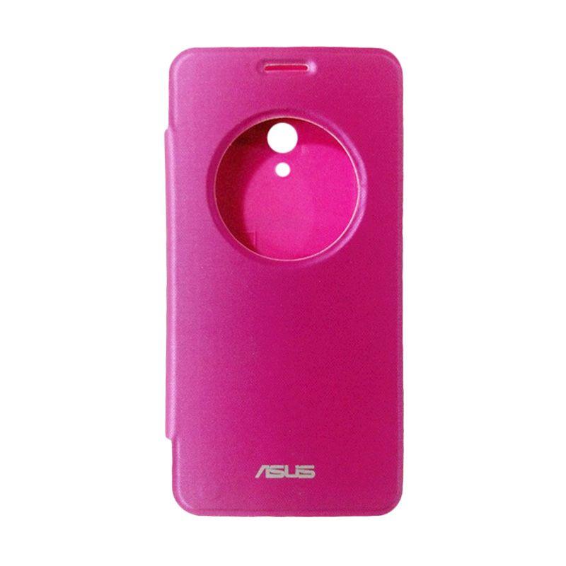Asus Flip Cover Pink Casing for Asus Zenfone 2