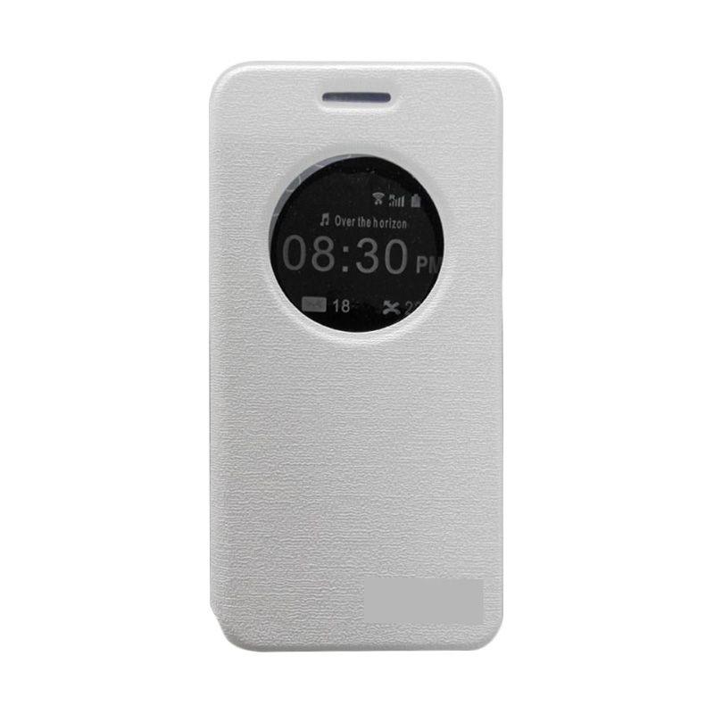 Asus Flip Cover Putih Casing for Asus Zenfone 2