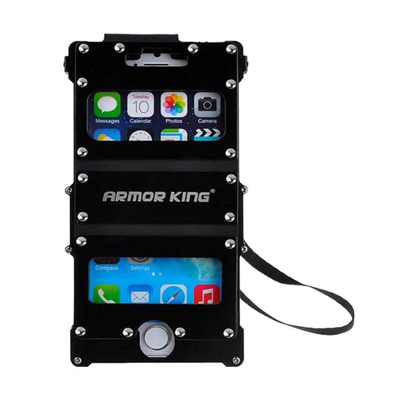 R-Just Armor King Dual Window Hitam Casing for iPhone 5/5S