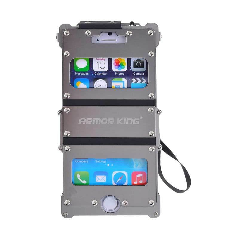 R-Just Armor King Dual Window Silver Casing for iPhone 5/5S