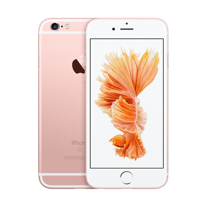 Apple iPhone 6S 64 GB Rose Gold Smartphone + Typo Keyboard Case
