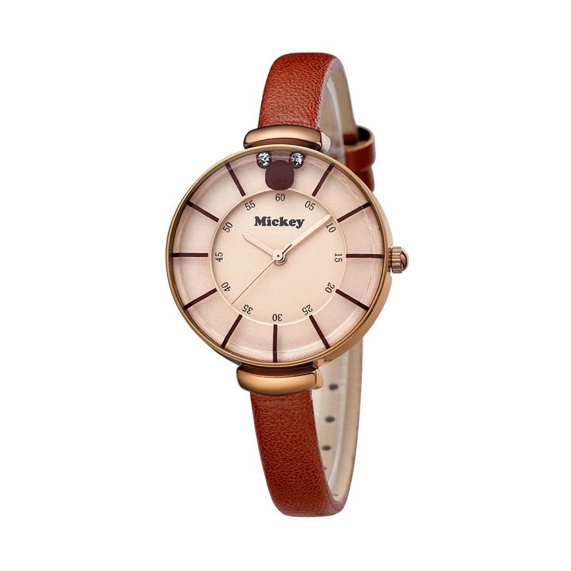 Disney Mickey MS5167-BR Brown Jam Tangan Wanita