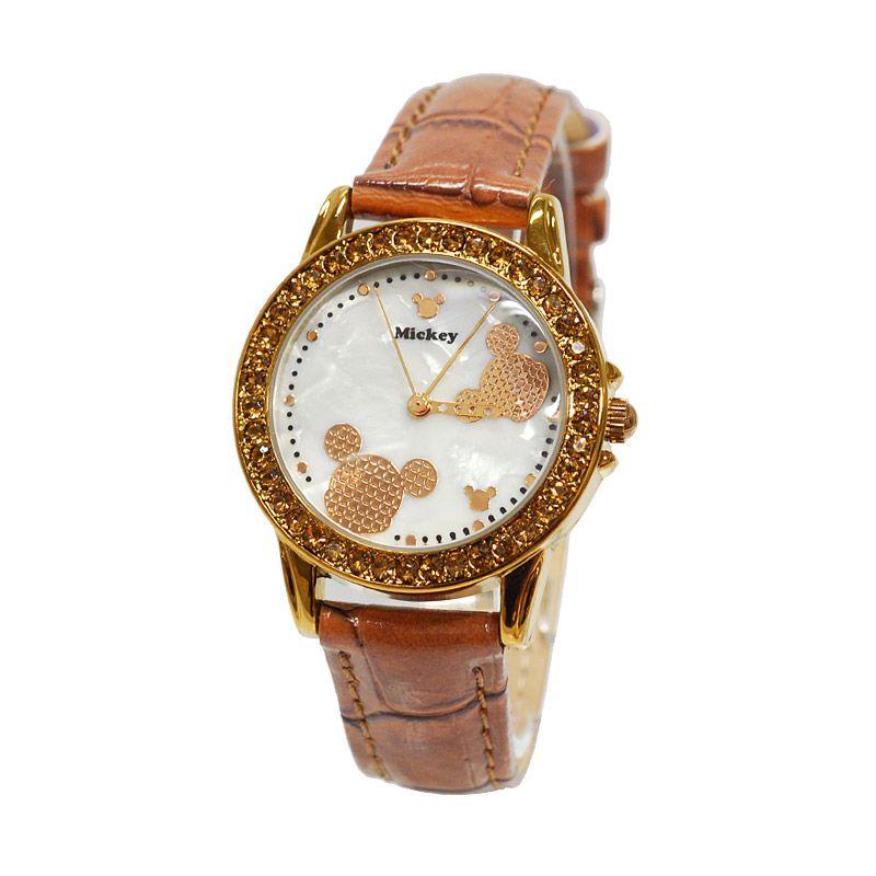 Disney Mickey MS5140-K Brown Jam Tangan Wanita