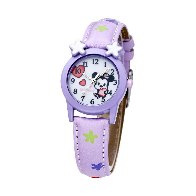 Disney MS5437-PL Minnie Purple Jam Tangan Anak