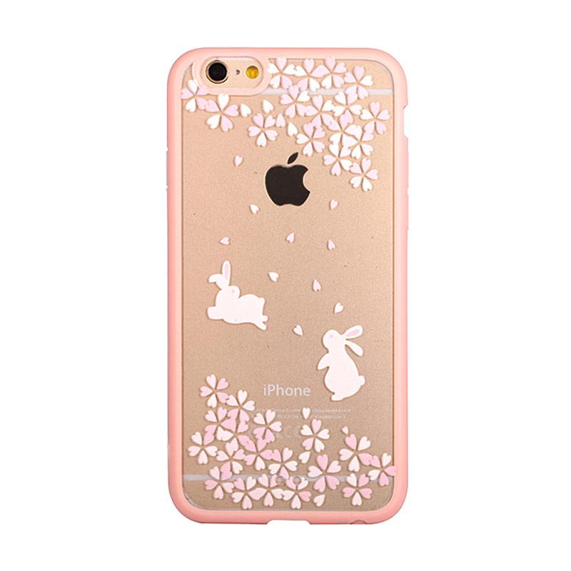 Kimi Custom Fancy Design Twins Rabbit on Spring Casing for iPhone 6 Plus