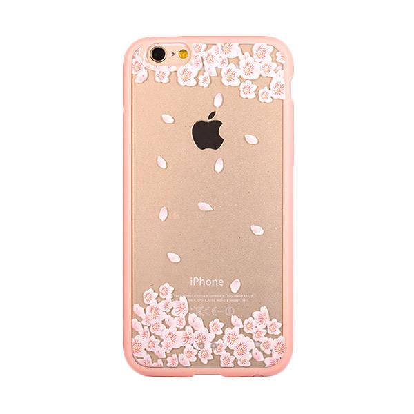 Kimi Custom Fancy Design Winter Rose Leaf Casing for iPhone 6 Plus
