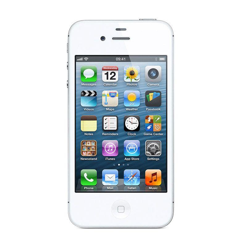 Apple iPhone 4S 32 GB Putih Smartphone [Garansi Distributor]