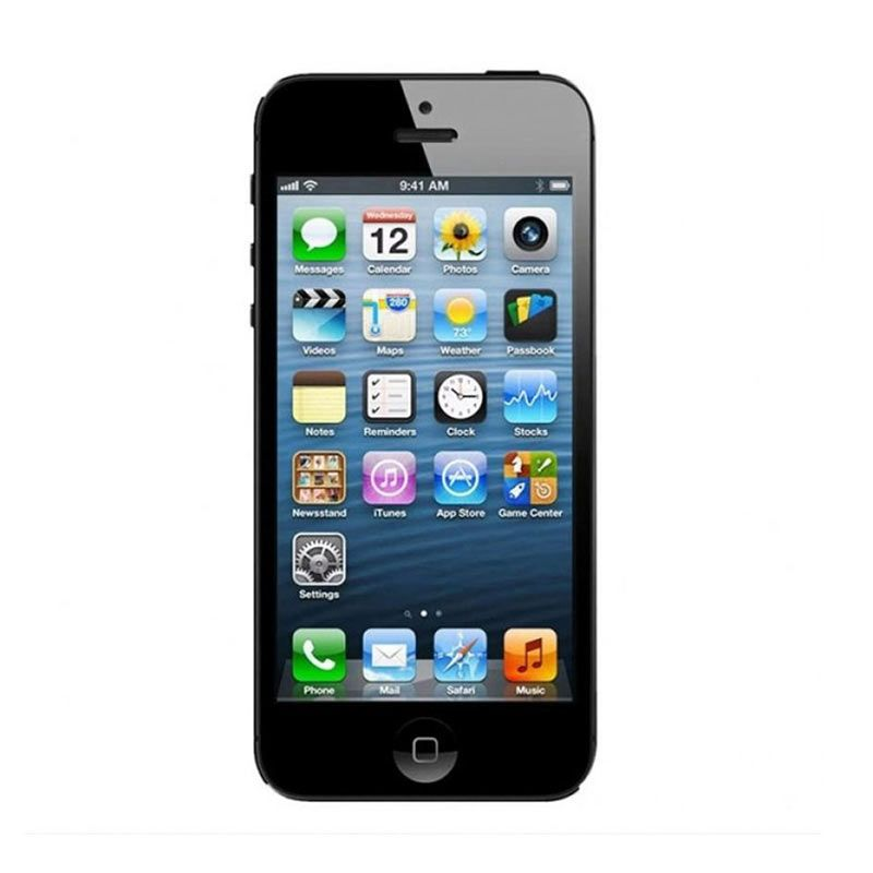 Apple iPhone 5 16 GB Hitam Smartphone [Refurbish]