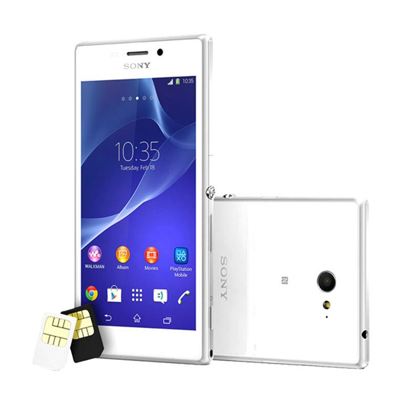 Sony Xperia M2 D2302 White Smartphone [Dual Sim]