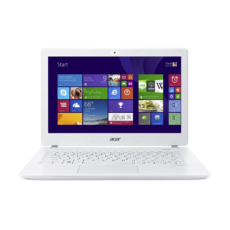 Acer Aspire V3-372T White Notebook [13 Inch/ i5-6200U/ 4 GB/ Win10]