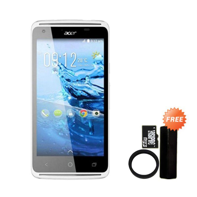 Acer Liquid Z410 White Smartphone + Gratis Powerbank Advance 3200 mAh + Elastic Ring Bumper + MicroSDHC 8 GB Class 6