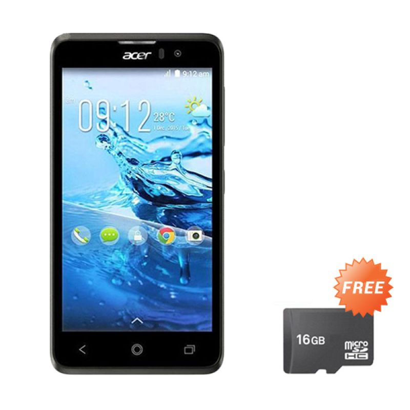 Acer Liquid Z520 Black Smartphone [RAM 1 GB/8 GB/Grs Resmi] + microSD 16 GB
