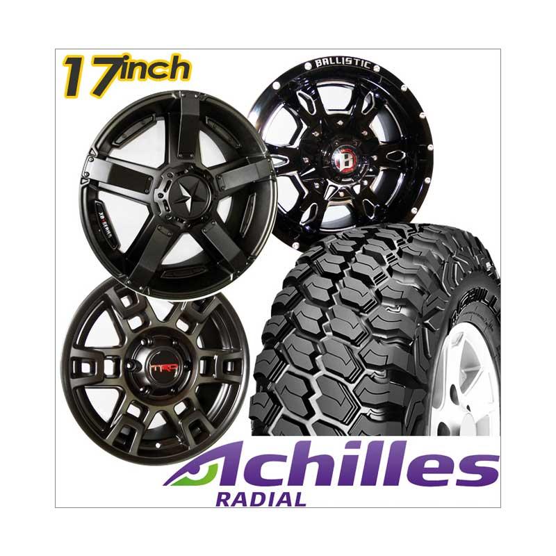 harga Paket Cicilan 4 Velg Racing [17 Inch/PCD 6x139.7 JEEP] + 4 Ban Achilles XMT 265/65/17 Ban Mobil Blibli.com