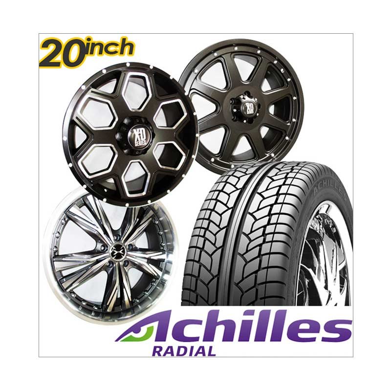 harga Achilles Paket Cicilan 4 Velg Racing 20 Inch PCD 5x114.3 SUV + 4 Ban Blibli.com