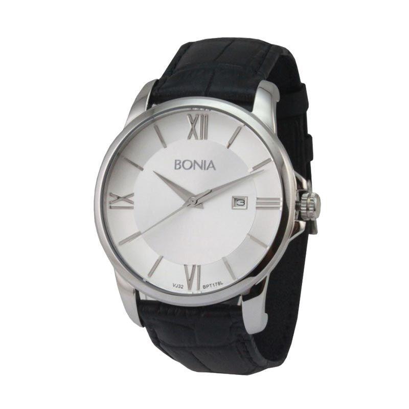 Bonia BPT178-1313L Black White Jam Tangan Pria