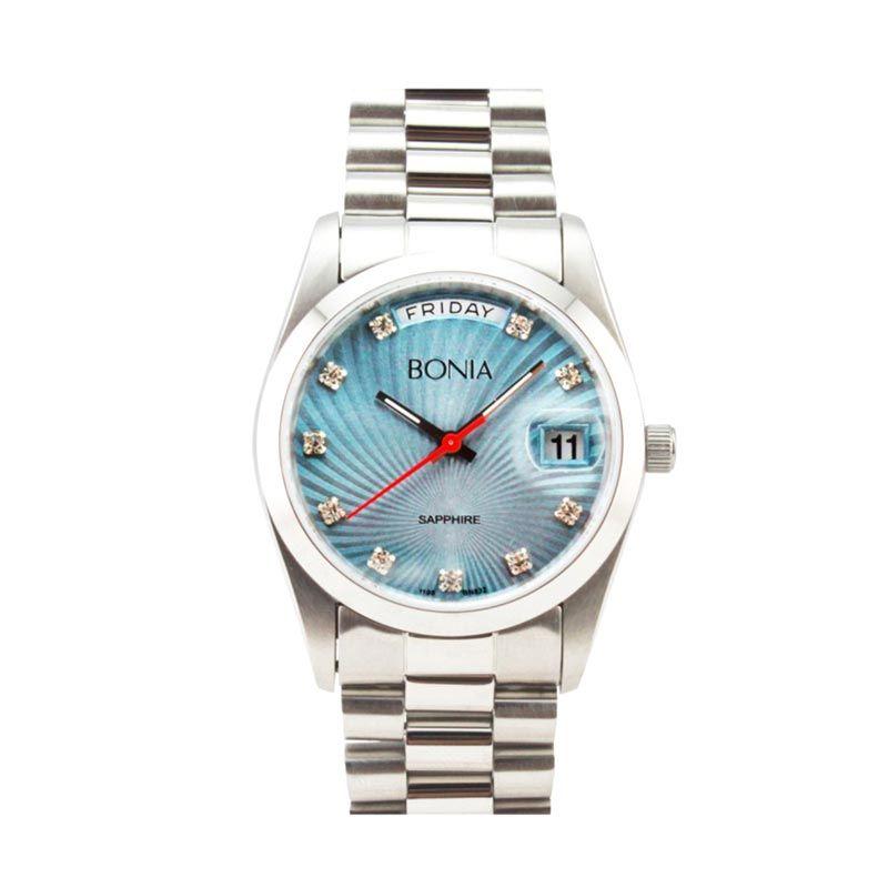 Bonia B832-1387 Silver Blue Jam Tangan Pria