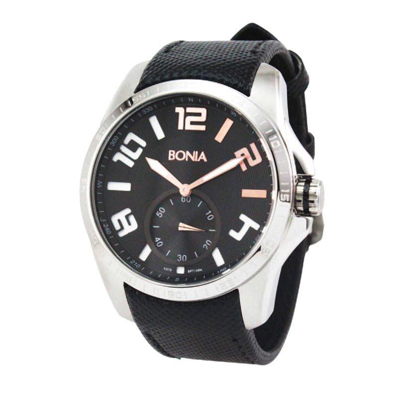 Bonia BPT199-1335M Black Silver Jam Tangan Pria