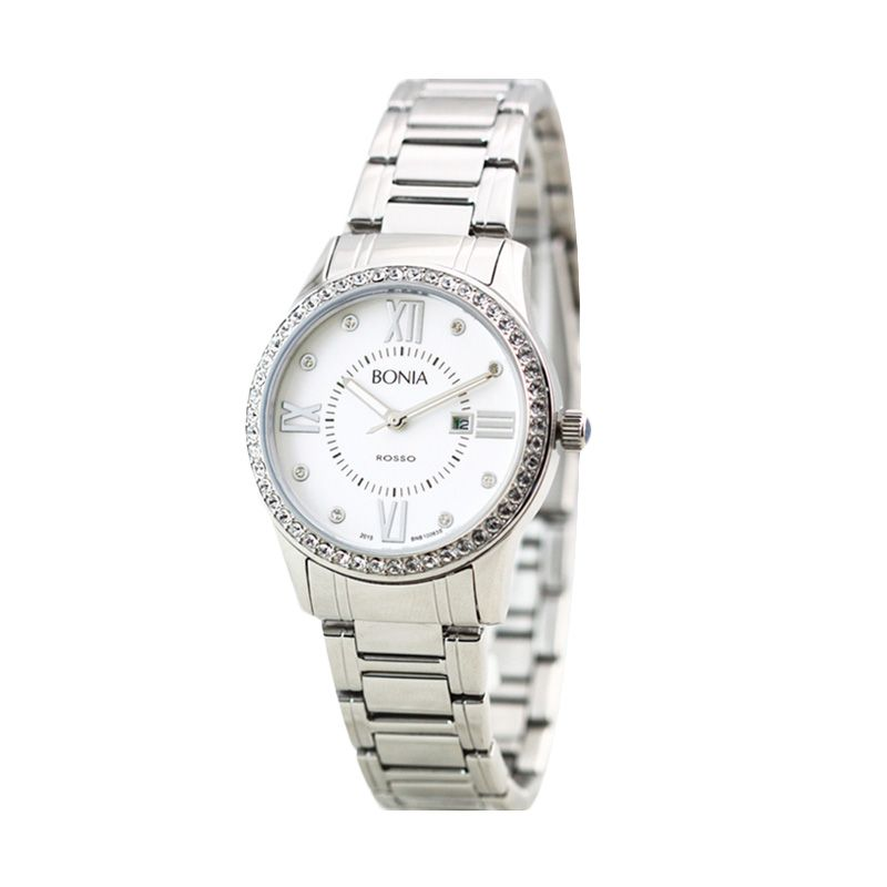 BONIA ROSSO B10063-2313S Silver Jam Tangan Wanita