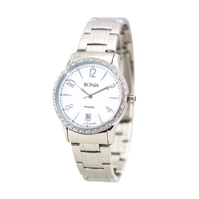 BONIA ROSSO B10065-2315S Silver Jam Tangan Wanita
