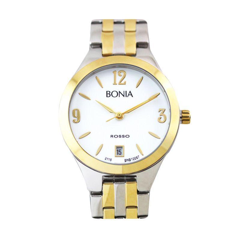 Bonia Rosso B10067-2115 IP Silver Gold Jam Tangan Wanita