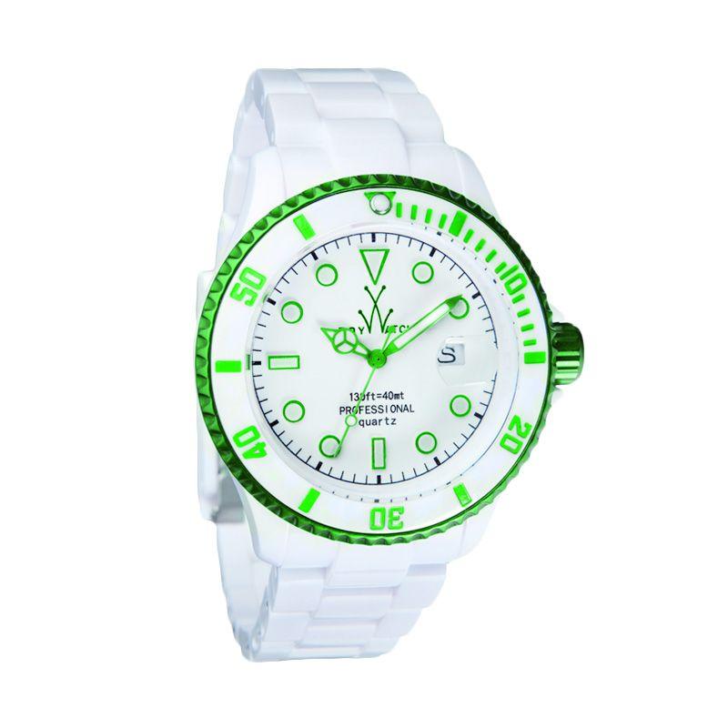TOYWATCH TYFLA01WHGR White Green Jam Tangan Wanita
