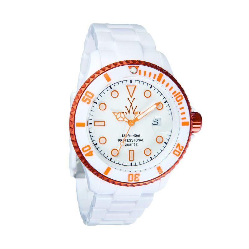 TOYWATCH TYFLA01WHOR White Orange Jam Tangan Wanita