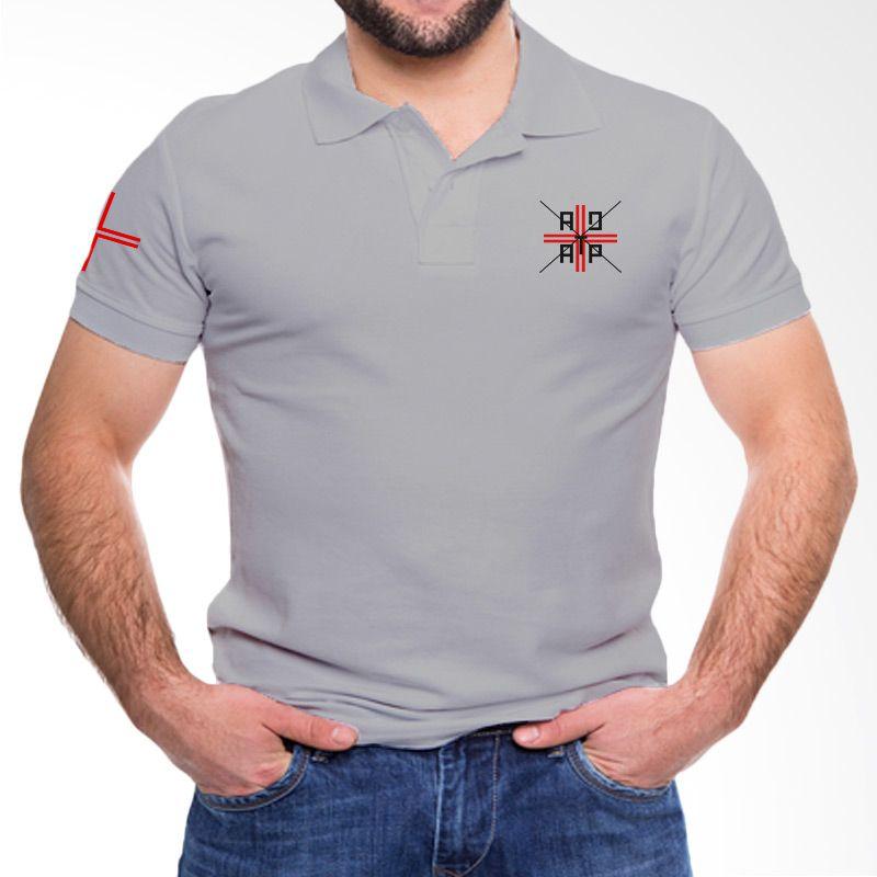 Adaptshirt Cross Grey Kaos Polo Pria
