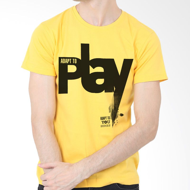 Adaptshirt Kaos Pria Adapt Play Kuning T-shirt
