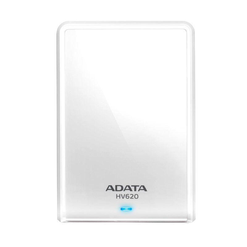 ADATA HV620 White Hard Disk Eksternal [1 TB/USB 3.0/Slim] + Free Pouch + Free Lanyard