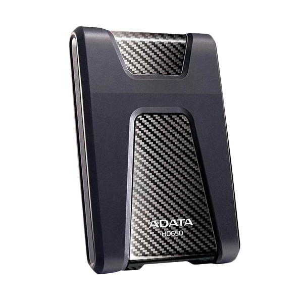 ADATA HD650 Black Hard Disk Eksternal [2 TB/USB 3.0/Slim/Anti Shock] + Lanyard