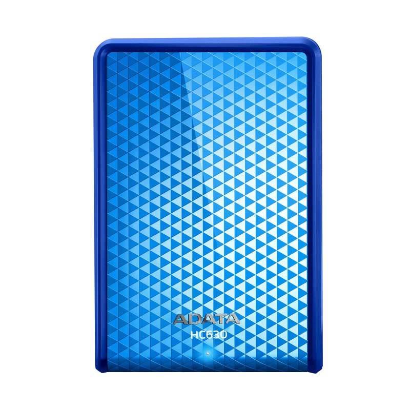 ADATA HC630 Blue Portable HardDisk [2 TB/USB 3.0/2.5 Inch] + Free Lanyard