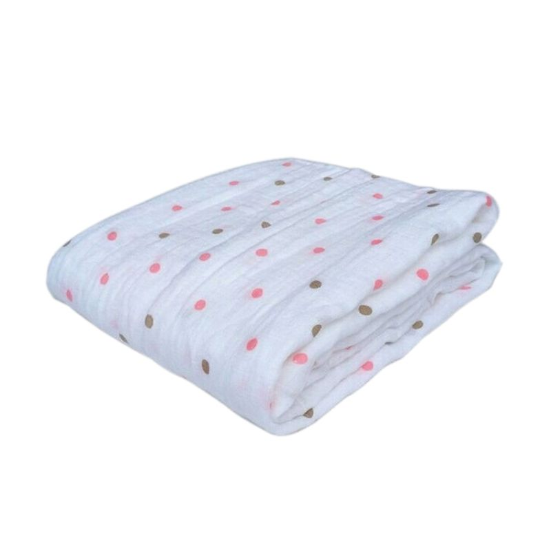 Aden + Anais Cotton Swaddle Pink Polka Baby Blanket