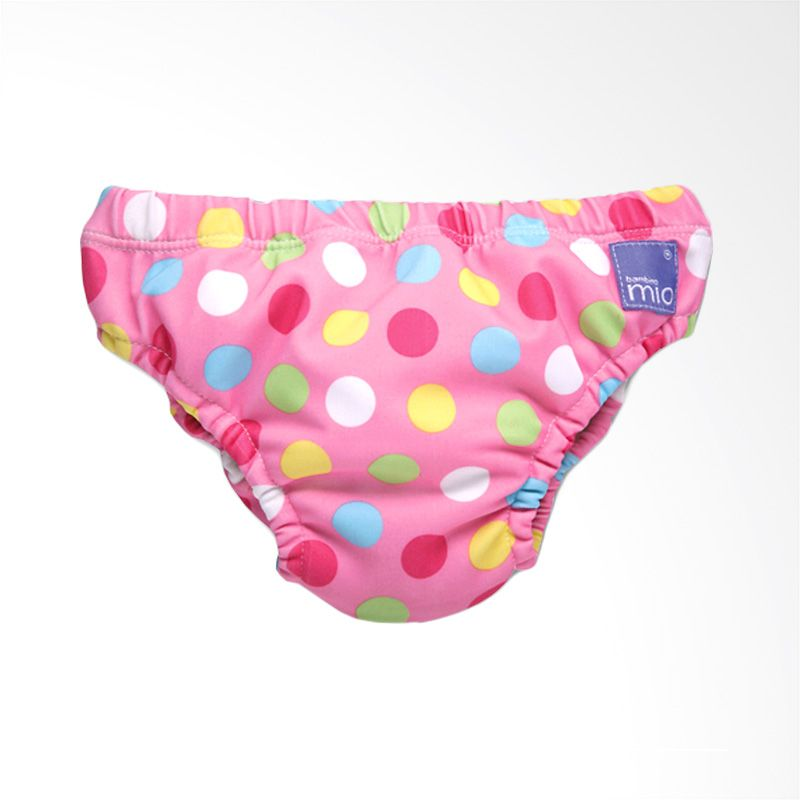 Bambino Mio Reusable Swimnappy Small Pink Dots Popok Kain [5-7 Kg]