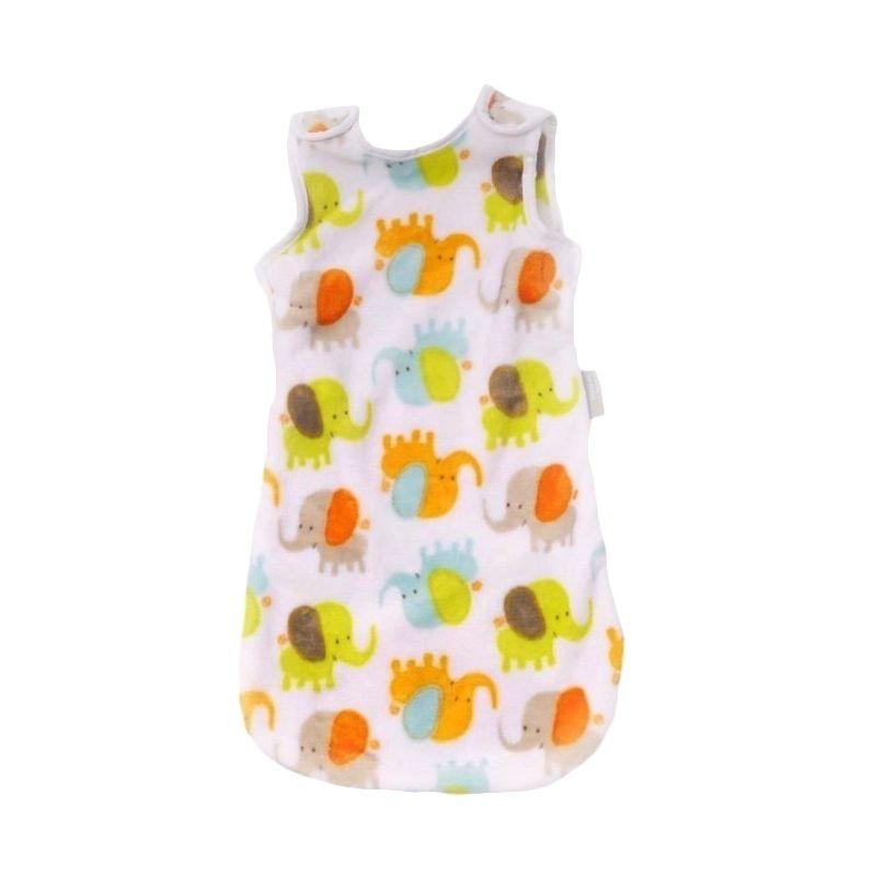 Blankets and Beyond Elephant Orange Baby Sleeping Bag [ 0-6 Month]