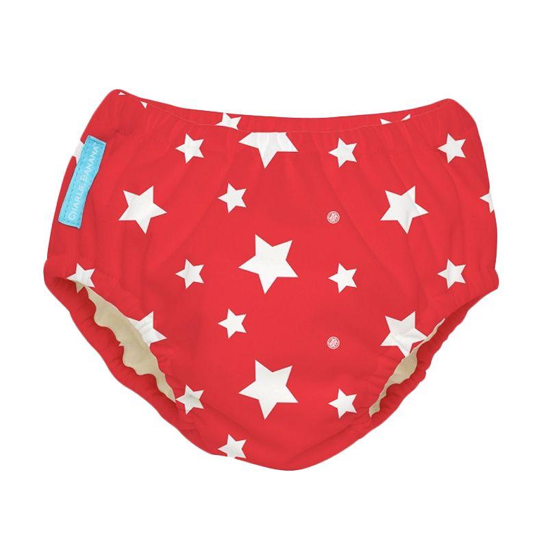 Charlie Banana Swim Diaper + Training Pants White Starts on Red Popok Kain