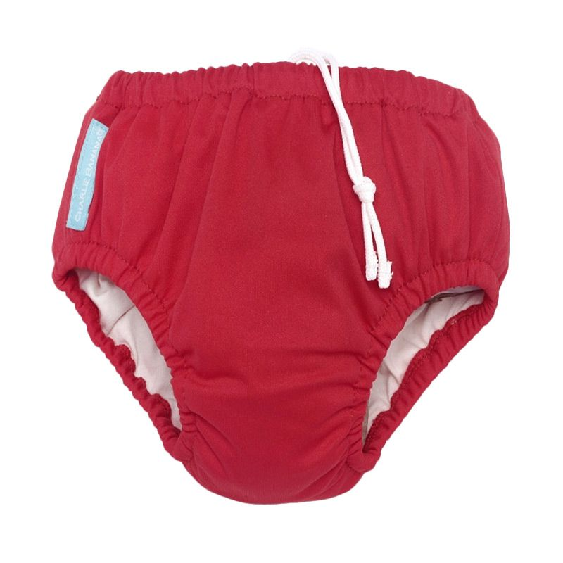 Charlie Banana Swim Diaper Plus Training Pants Red Popok Kain