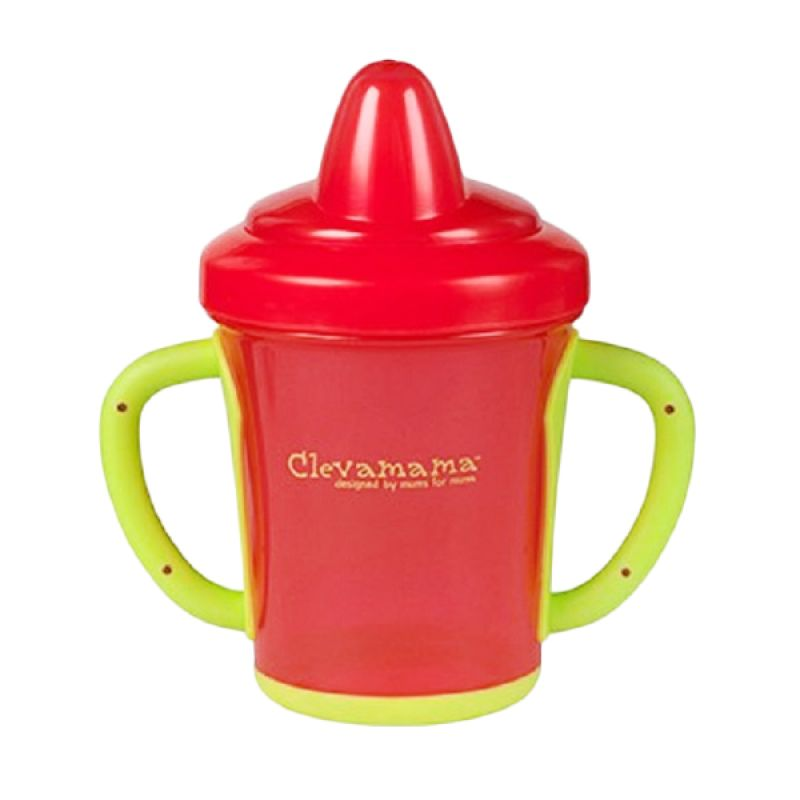 Cleva Mama Easy Grip Red Taining Cup Cangkir Bayi