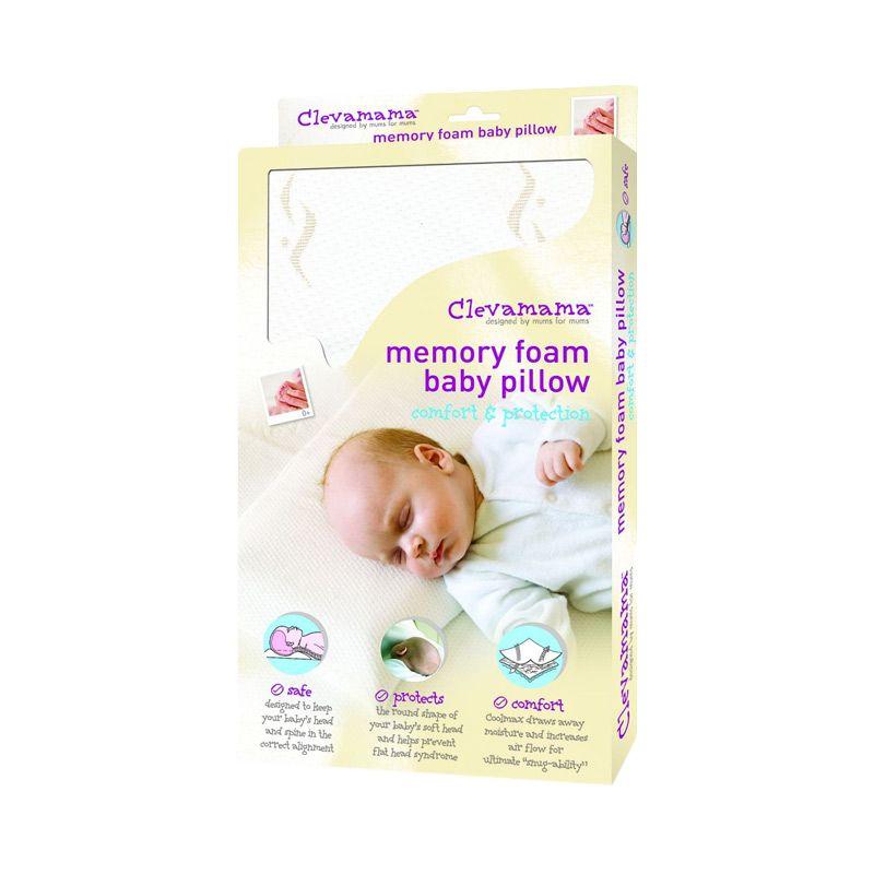 Clevamama ClevaFoam White Bantal Bayi