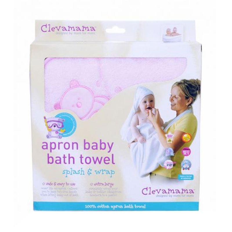 Clevamama Splash N Wrap Pink Handuk