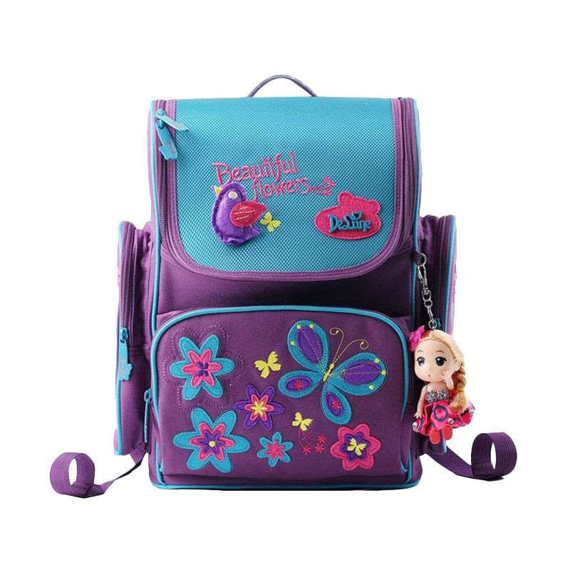 De Lune Primary I Love School Purple Tas Sekolah